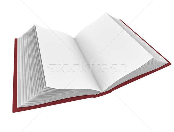 Açık kitap 3D render görüntü ofis Stok fotoğraf © bayberry