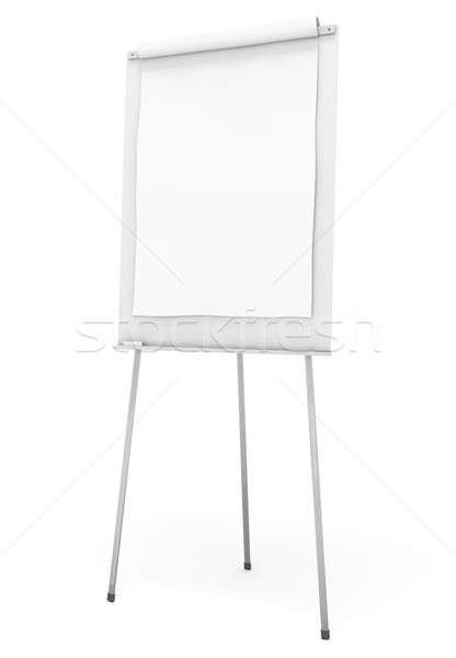 Flipchart beyaz ofis kâğıt arka plan grafik Stok fotoğraf © bayberry