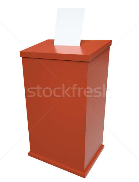 Сток-фото: голосование · окна · красный · 3d · визуализации · фон · голосования