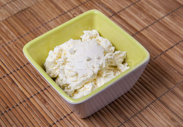 Mascarpone fromages fraîches italien bol blanche Photo stock © bayberry