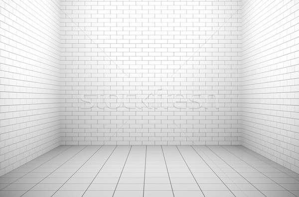 Vacío blanco interior 3D prestados imagen Foto stock © bayberry
