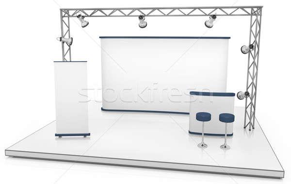 Tentoonstelling stand handel scherm counter banner Stockfoto © bayberry