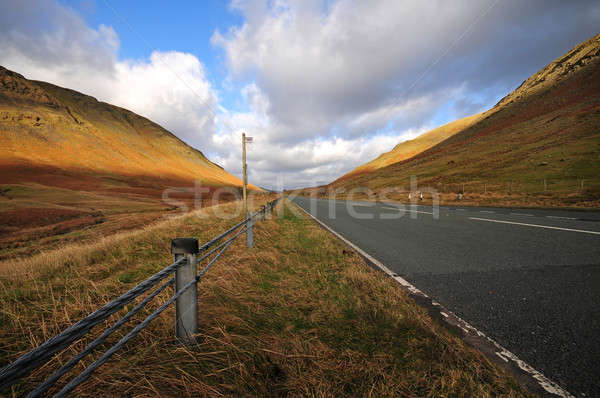Carretera paisaje desierto rock asfalto Foto stock © bayberry