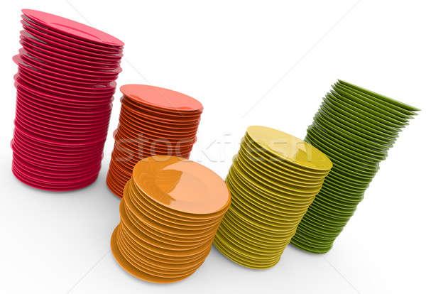 Placas colorido 3D prestados ilustración fondo Foto stock © bayberry
