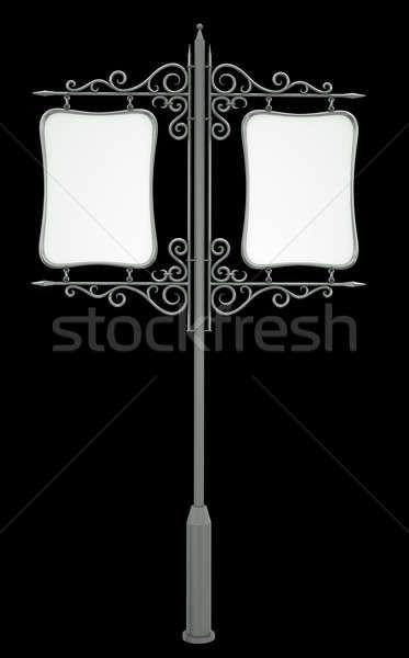 Edad signo pasado de moda aislado negro 3d Foto stock © bayberry
