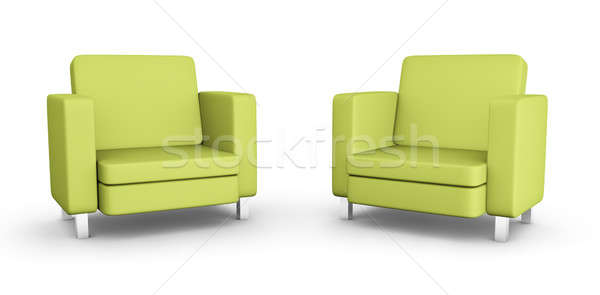Two green armchairs  Stock photo © bayberry