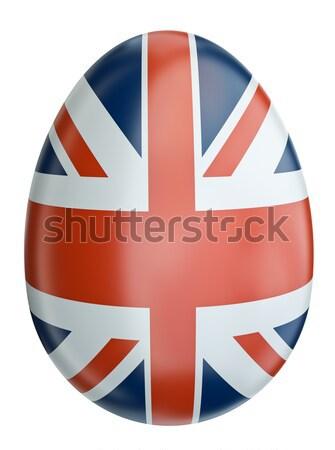 フラグ イースターエッグ イギリス 3dのレンダリング 抽象的な デザイン ストックフォト © bayberry