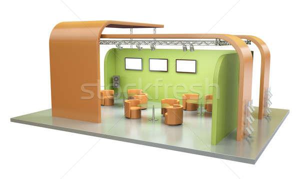 стоять пусто торговли события 3d визуализации бизнеса Сток-фото © bayberry