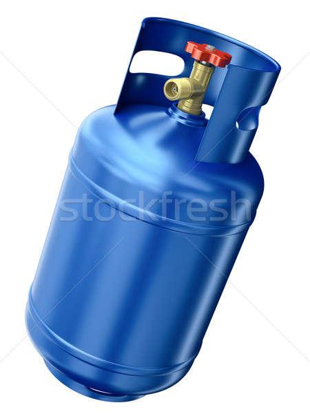 синий газ контейнера изолированный белый 3d визуализации Сток-фото © bayberry