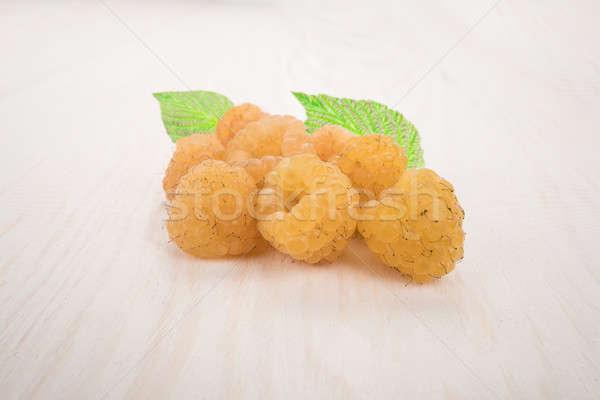 yellow raspberry Stock photo © bazilfoto