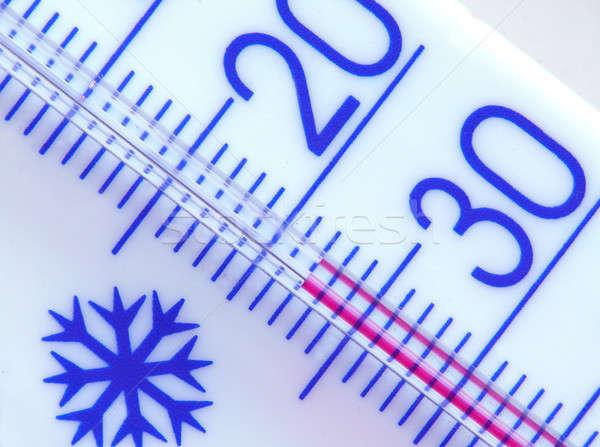 Hőmérő tél minta közelkép közelkép bent Stock fotó © bazilfoto