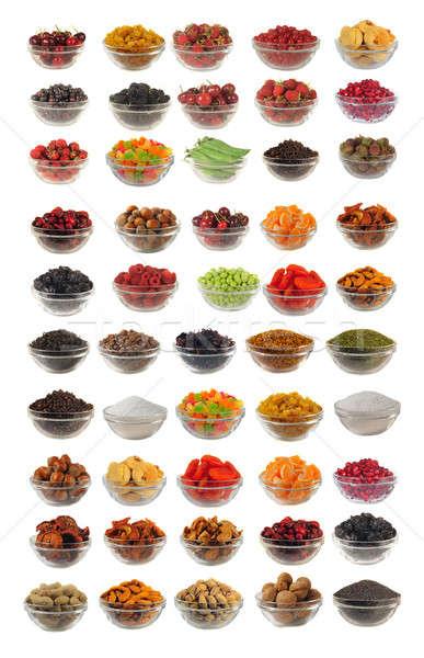 Konyha választás száraz étel kellékek fehér Stock fotó © bazilfoto