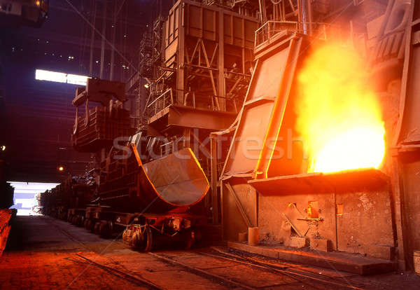 工場 車 ファーネス 抽象的な 技術 金属 ストックフォト © bazilfoto