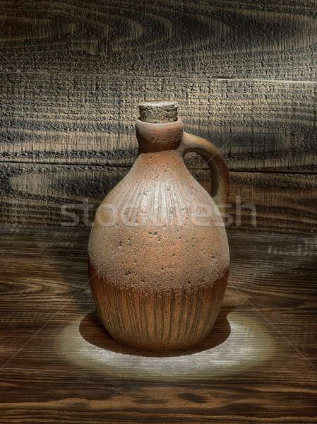 öreg kancsó asztal terv háttér művészet Stock fotó © bazilfoto