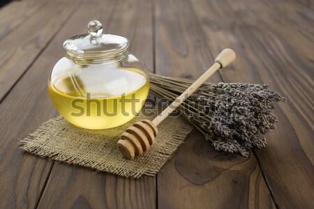 Méz barna asztal virág természet háttér Stock fotó © bazilfoto