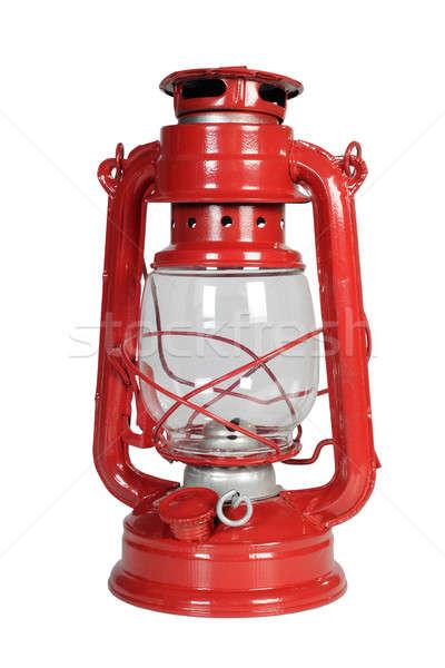 ランプ 白 背景 赤 アンティーク 孤立した ストックフォト © bazilfoto