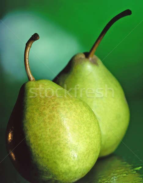 Körte gyümölcs egészség citromsárga ötlet termék Stock fotó © bazilfoto