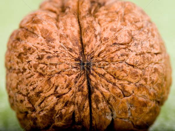 Noce verde legno frutta tavola shell Foto d'archivio © bazilfoto