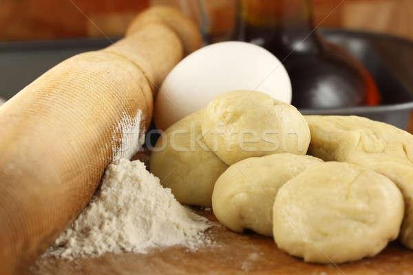 Un pin haddeleme kalp mutfak kek Stok fotoğraf © bdspn