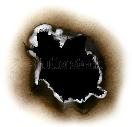 Burnt Paper Stock photo © bdspn
