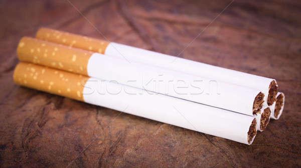 Filtrer cigarette sécher tabac texture Photo stock © bdspn