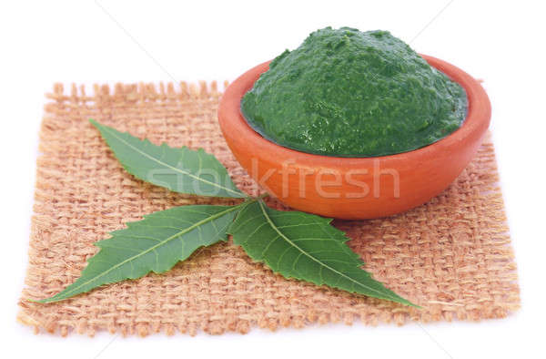 Medicinal neem leaves with paste Stock photo © bdspn