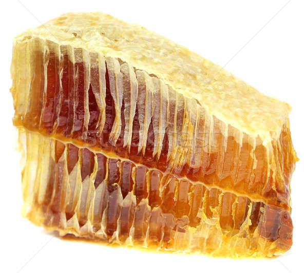 Honig Kamm weiß Essen Essen gelb Stock foto © bdspn