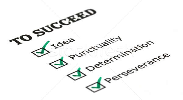 Way to success checklist Stock photo © bdspn