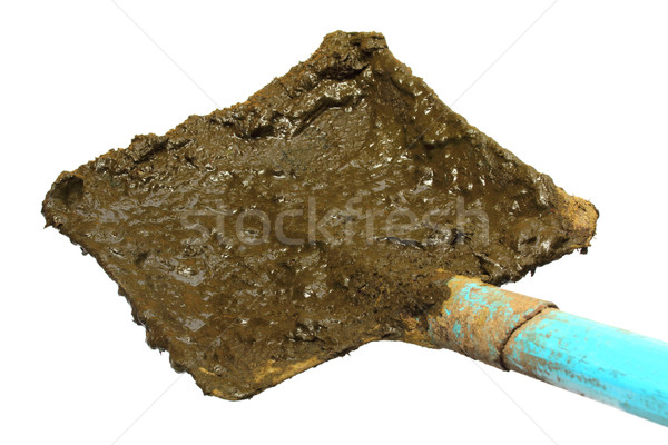 Shovel for taking raw cow manure Stock photo © bdspn