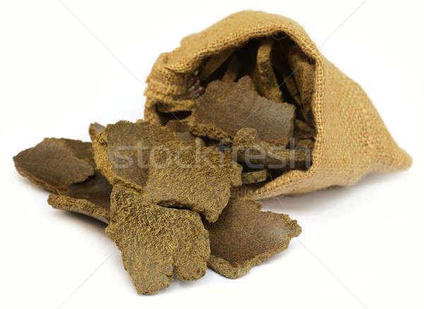 Mustár olaj torta zsák táska fehér Stock fotó © bdspn