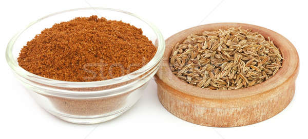 Crushed cumin with whole ones Stock photo © bdspn