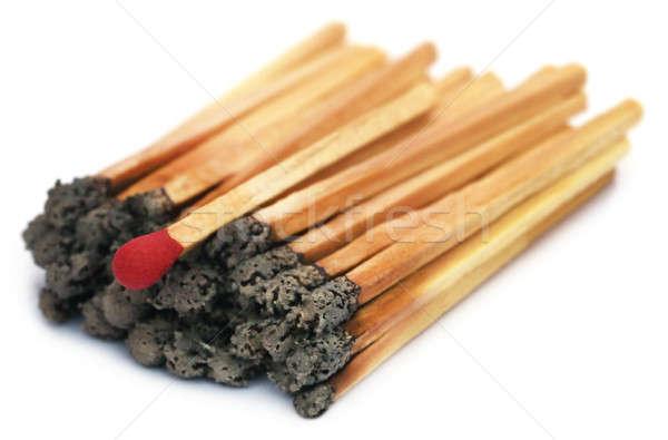 Burnt matchsticks Stock photo © bdspn