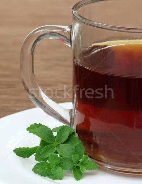 Stevia with cup of tea Stock photo © bdspn