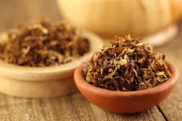 Tabaco cigarro marrom tigela Foto stock © bdspn