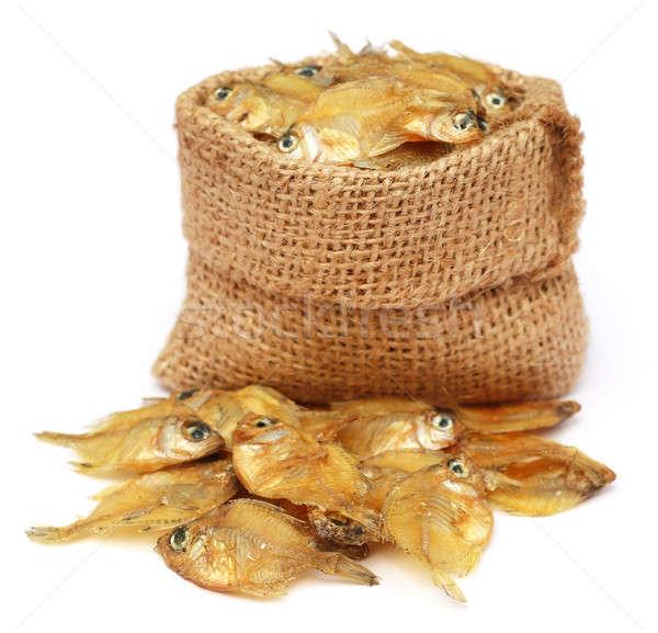 Séché vitreux sac sac blanche poissons Photo stock © bdspn
