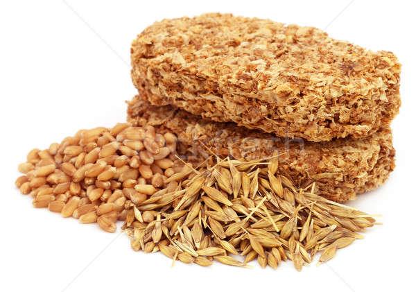 Cookies avoine blé blanche alimentaire fond Photo stock © bdspn