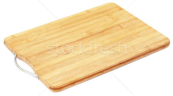 Planche à découper blanche texture bois fond cuisine Photo stock © bdspn