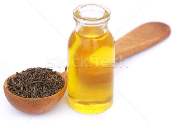 Caraway seeds with essential oil in glass bottle Stock photo © bdspn