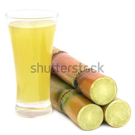 Piece of sugarcane juice Stock photo © bdspn