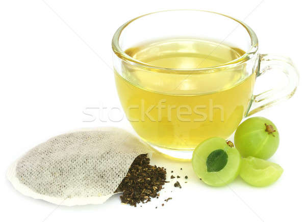 Green tea with ampla fruit Stock photo © bdspn