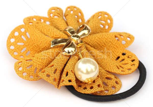 Saç elastik sarı bant renk beyaz Stok fotoğraf © bdspn