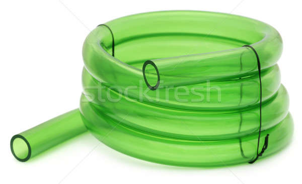 Foto stock: Verde · tubulação · isolado · branco · limpar · ferramenta