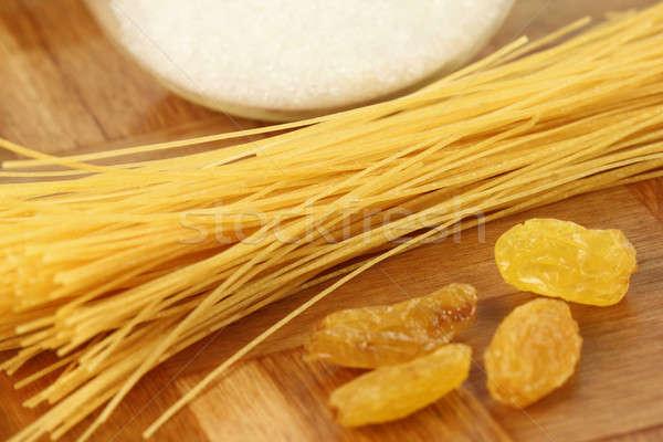 Mazsola cukor konyha háttér reggeli szőlő Stock fotó © bdspn