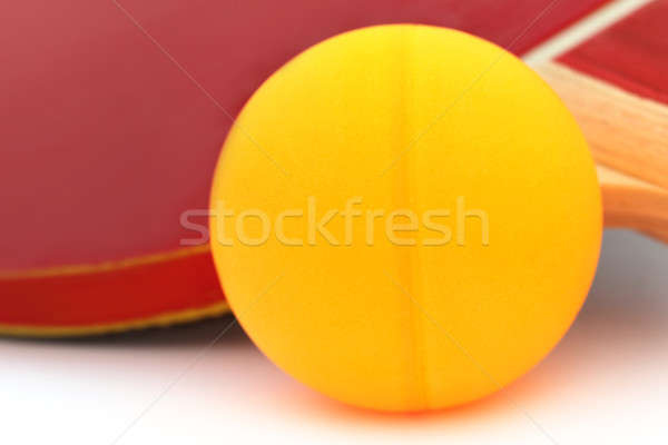 Table tennis ball with racket Stock photo © bdspn