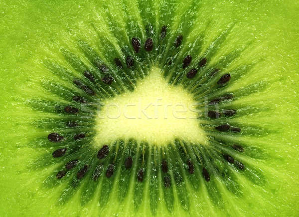 Cross section of a kiwi fruit Stock photo © bdspn