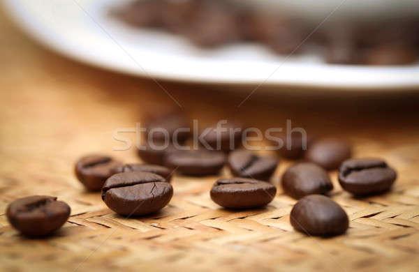 Pörkölt kávébab mintázott felület kávé csoport Stock fotó © bdspn