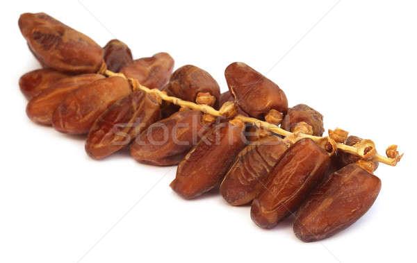 Arabski daty biały dłoni jedzenie tropikalnych Zdjęcia stock © bdspn