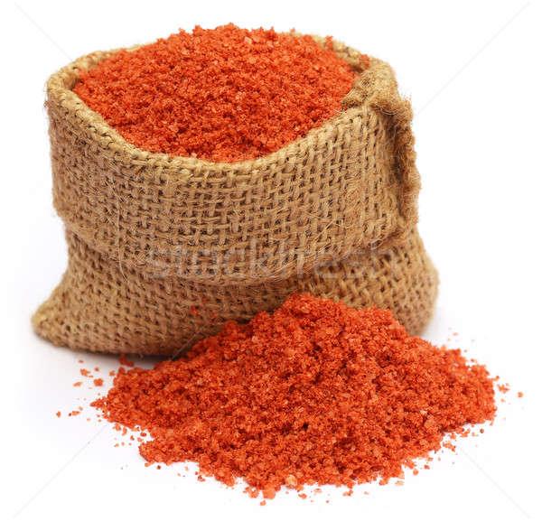 Meststof zak zak voedsel oranje groene Stockfoto © bdspn