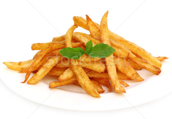 French fry with mint leaves Stock photo © bdspn