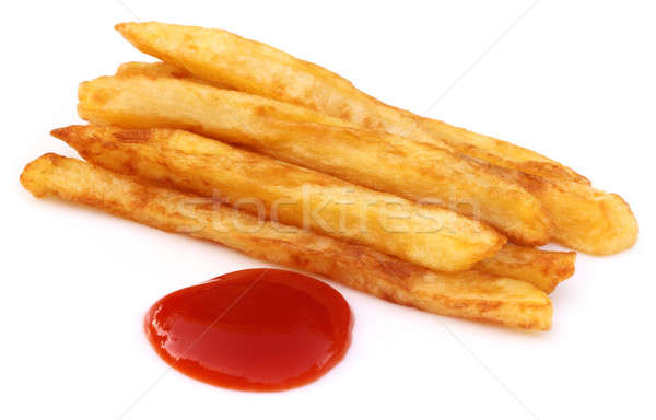 French fry with tomato sauce Stock photo © bdspn